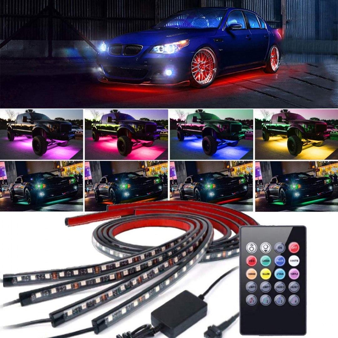 Neony LEDY Undercar Kit 2x90cm 2x120cm - GRUBYGARAGE - Sklep Tuningowy
